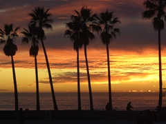Sunset at Venice Beach, Los Angeles